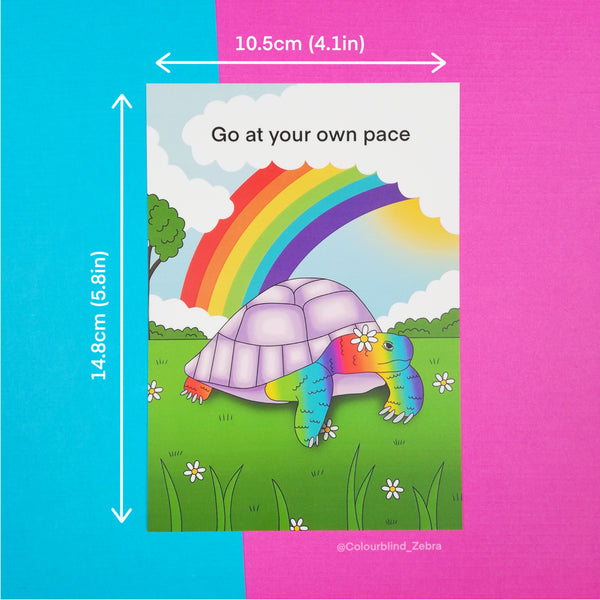 Go At Your Own Pace Postcard