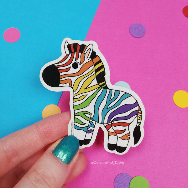 Rainbow Zebra Vinyl Sticker