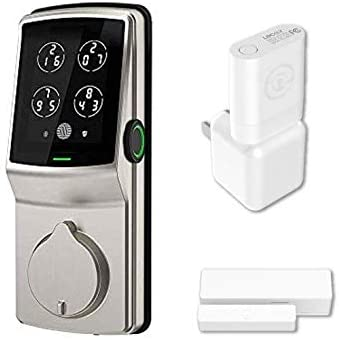 Lockly Secure Pro | Bluetooth Fingerprint WiFi Keyless Entry Smart Door Lock (PGD 728W) Patented Keypad | 3D Fingerprint Reader | iOS and Android Compatible