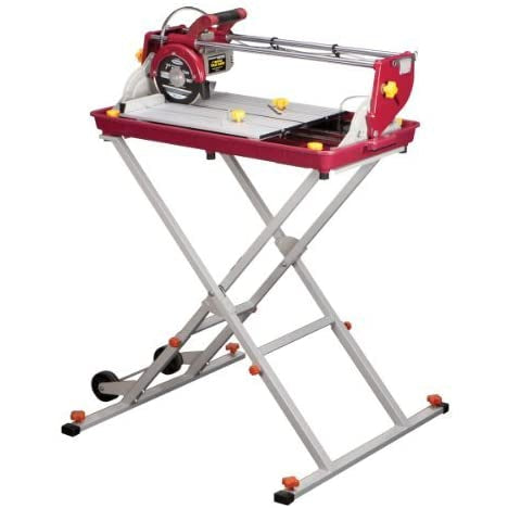 7 inch Bridge Tile Saw 1.5 HP with Miter Gauge and Splash Guard; Cuts masonry up to 20 in. long, 14 in. diagonal by Chicago Pneumatic