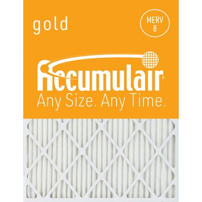 Accumulair MERV 8 Furnace Air Filter, Width 21.25 in, Height 21.25 in, Filters (qty.) 4, Model