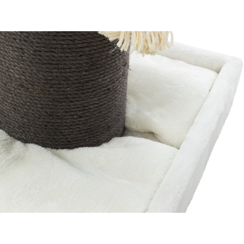 Bellaire Designer Scratching Post Tower Cream/Gray