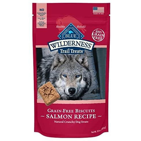 BLUE BUFFALO WILDERNESS BISCUITS ? GRAIN FREE DOG TREATS ? VARIETY PACK 8 BAGS