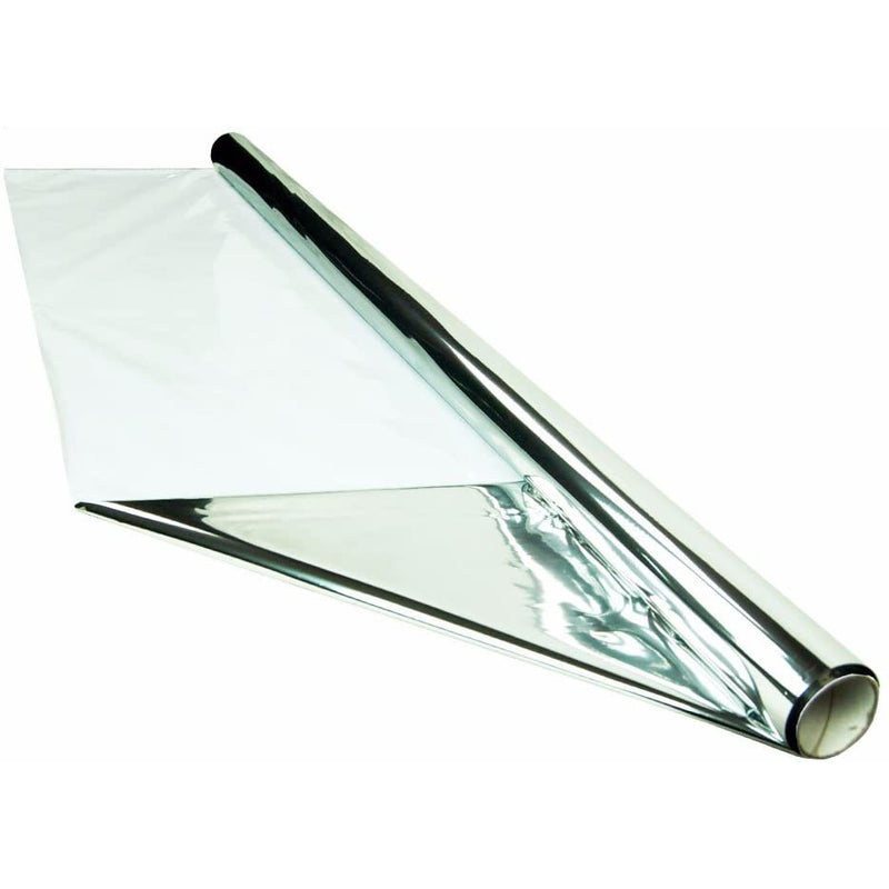HTG Supply 25 Foot by 4 Foot Reflective Mylar On White Poly Roll, 2-Mil