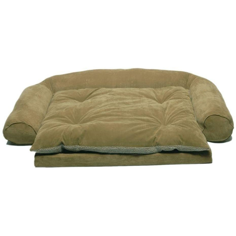 Carolina Pet 015350 Ortho Sleeper Comfort Couch with Removable Cushion - Sage44; Medium