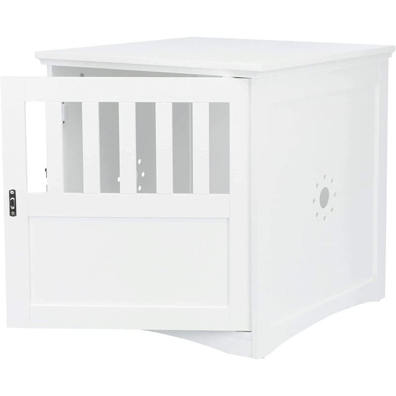 Trixie Pet Products 39505 Wooden Pet Crate/End Table Kennel, S: 49 x 51 x, White