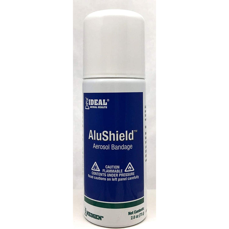 Alushield Aerosol Neogen Bandage Dogs Cats Horse Wound Care 75g.
