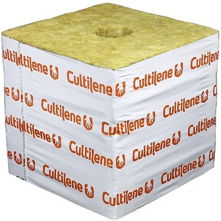 Cultilene Rockwool Blocks w/ Quick Drain Hole, Rock Wool Big Block Starter Cubes for Hydroponics, Cuttings, Cloning, Plant Propagation, Seed Starting