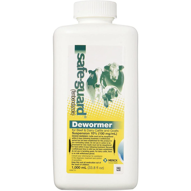 Safe-Guard Dewormer Suspension for Beef, Dairy Cattle and Goats, 1000ml (Pack of 2)
