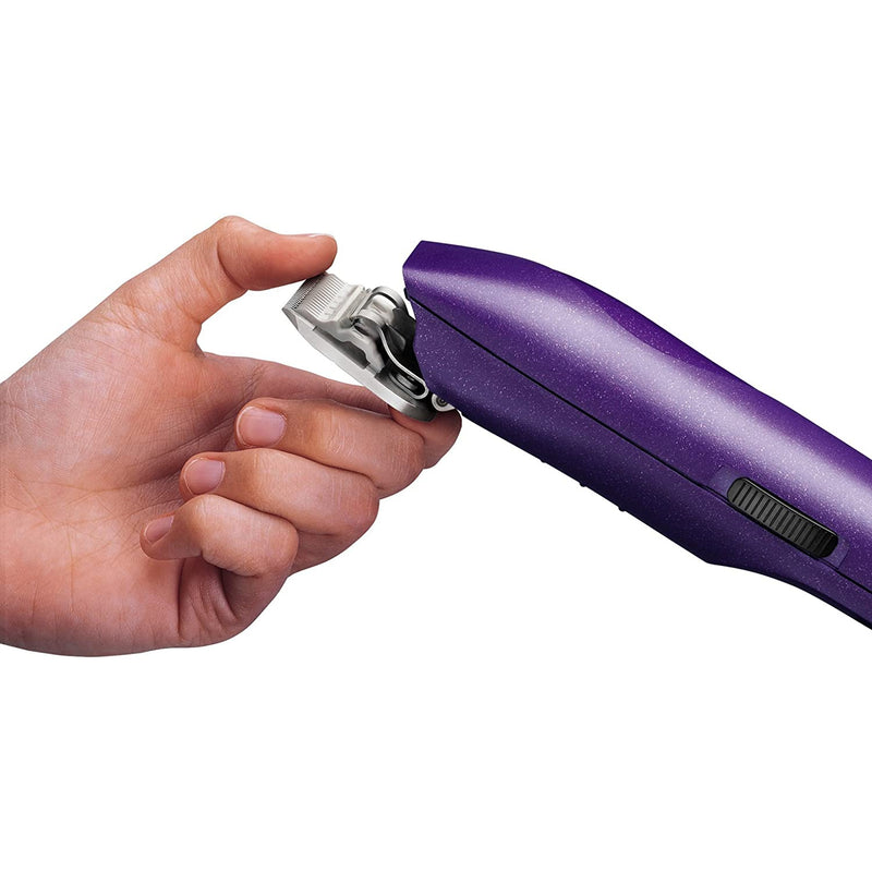Andis (Pet) 22690 EasyClip Pro-Animal 7-Piece Detachable Blade Clipper Kit,Purple