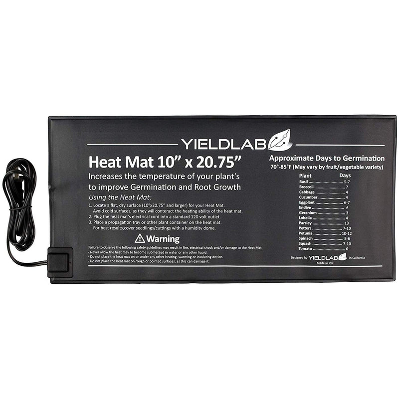 Yield Lab 20.75 x 10 inch Seed and Clone Heat Mat (10 Pack)