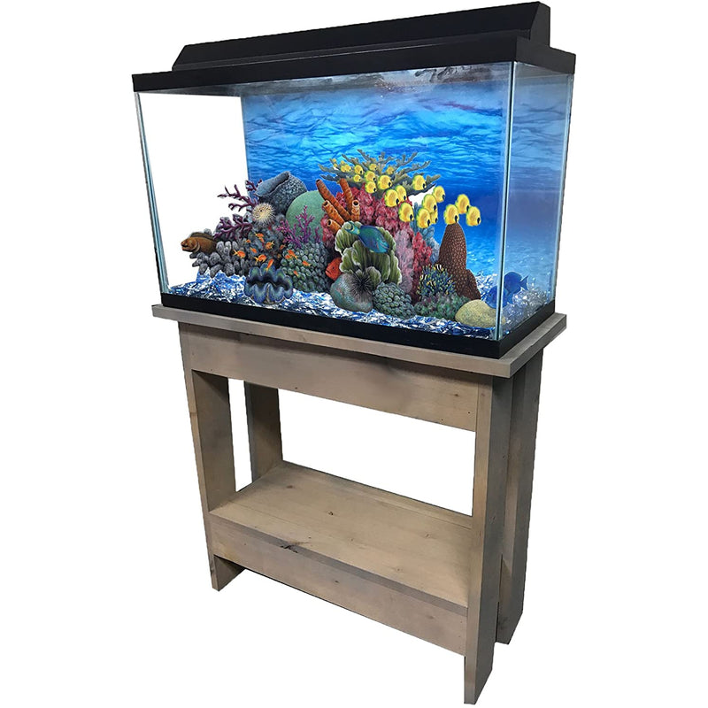 "R&J Enterprises Rustic A 30"" Tall Aquarium Cabinet, 20""x10"", Grey"