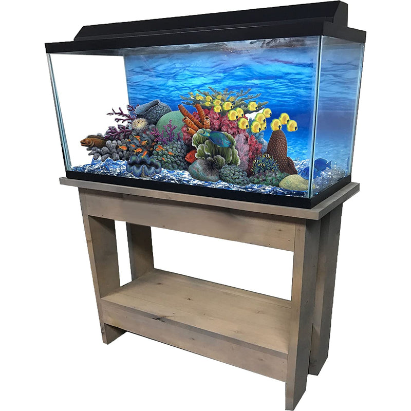 "R&J Enterprises Rustic A 30"" Tall Aquarium Cabinet, 36""x12"", Grey"
