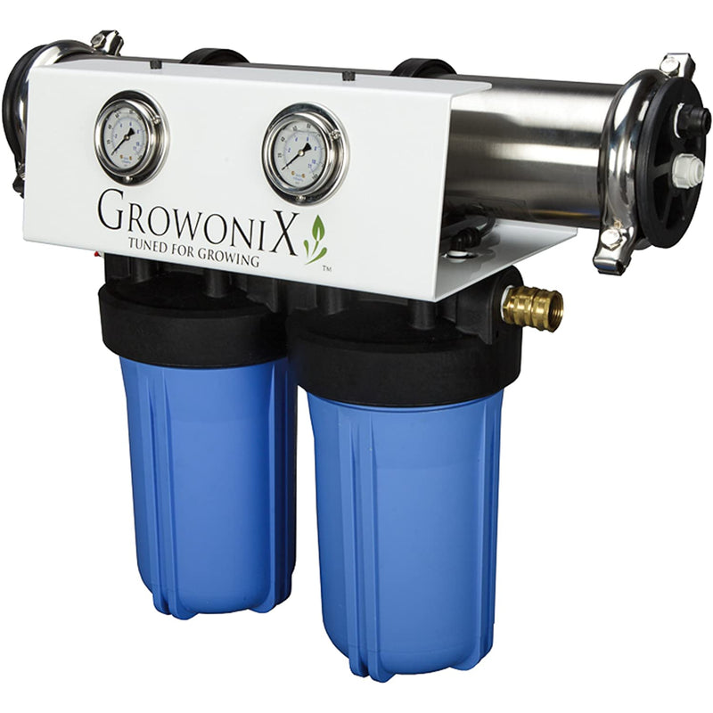 GROWONIX EX1000 Reverse Osmosis System Ultra High Flow Rate Water Purification Filter for Hydroponics Gardening Growing Drinking H20 Coffee Point of use On Demand Purifier Most Efficient Eco