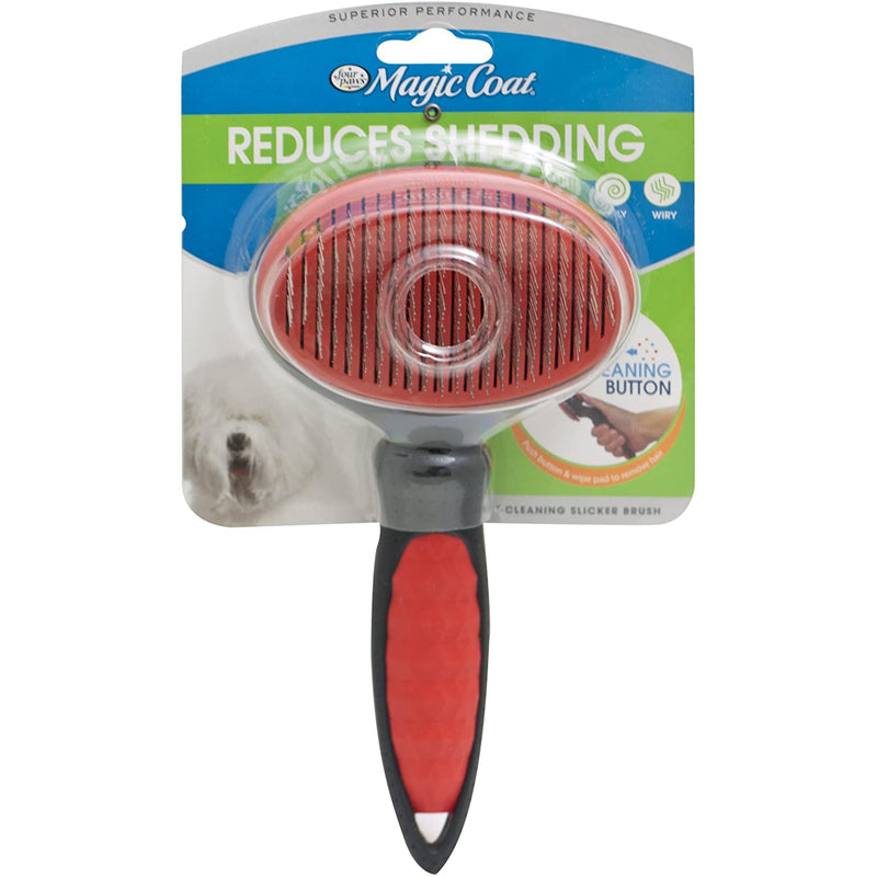 Four Paws Magic Coat Self Cleaning Slicker Dog Brush