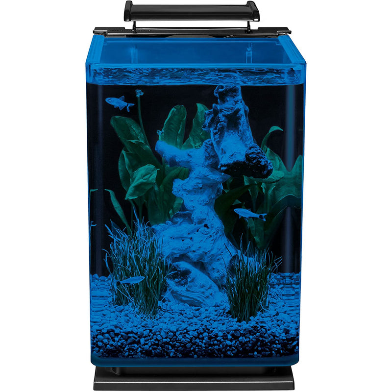 Marineland Portrait Glass LED aquarium Kit, 5 Gallons, Hidden Filtration