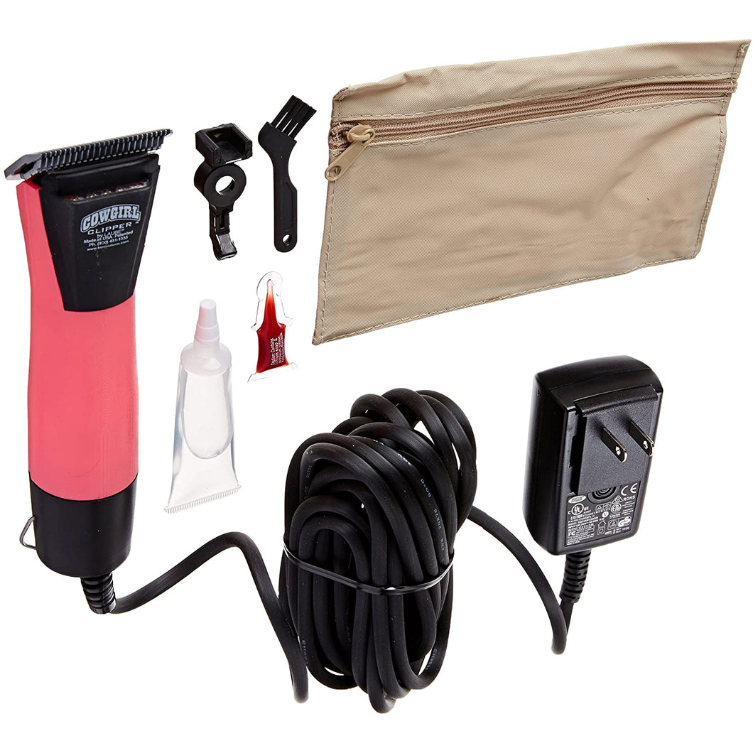 Laube Cowgirl 2spd corded clipper pink w/ lights