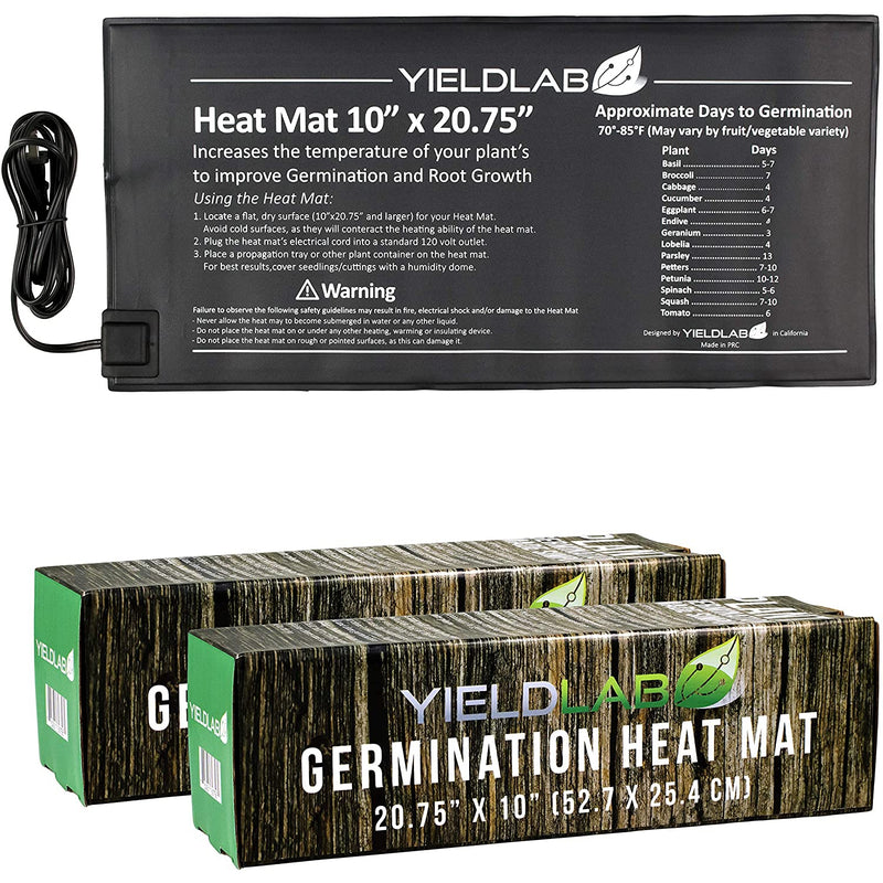 Yield Lab 20.75 x 10 inch Seed and Clone Heat Mat (2 Pack)