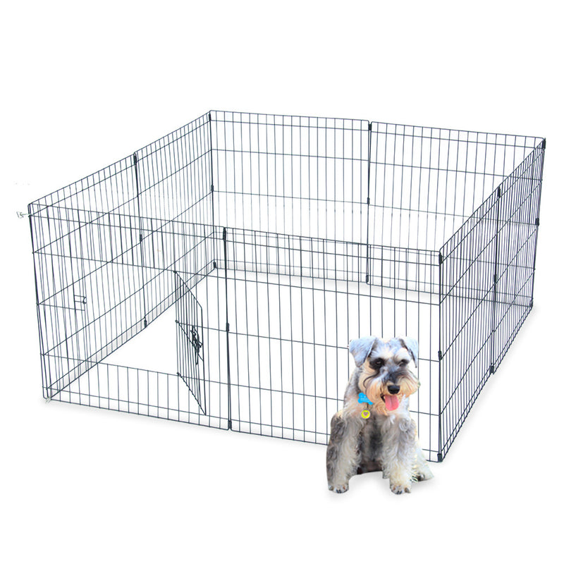 24''  30'' Tall Wire Fence Pet Dog Cat Folding Exercise Yard 8 Panel Metal Play Pen