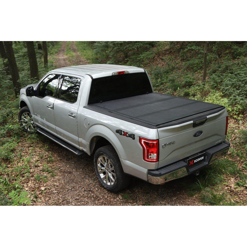 Xcover Hard Tonneau Cover, Low Profile Folding Truck Bed, Fit 2017-now Honda Ridgeline