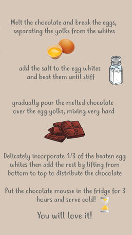 Easy recipe of the classic French mousse au chocolat to make with kids