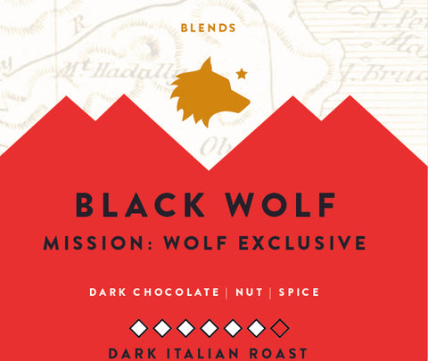 Black Wolf Blend - 12oz WHOLE BEAN