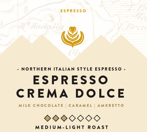 Espresso Crema Dolce - 12oz WHOLE BEAN