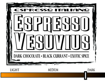 Espresso Vesuvius - 12oz WHOLE BEAN