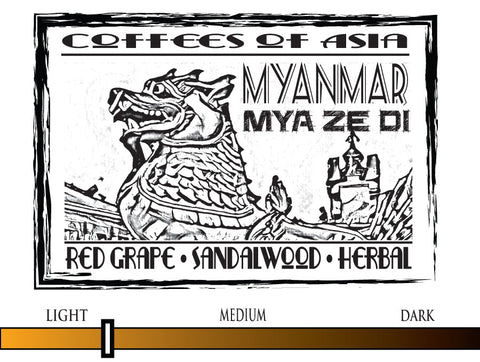 Myanmar Mya Ze Di Natural - 12oz WHOLE BEAN