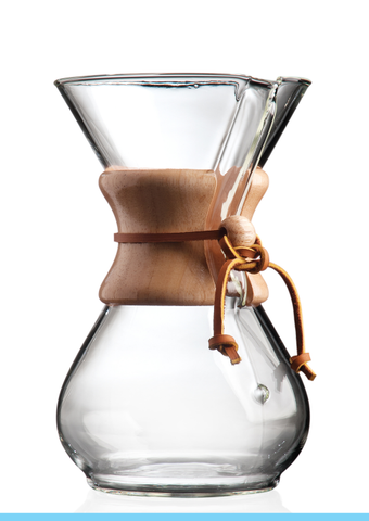 Six Cup Classic Wooden Collar CHEMEX