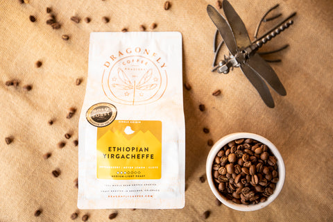 Ethiopian Yirgacheffe Natural - 12oz WHOLE BEAN