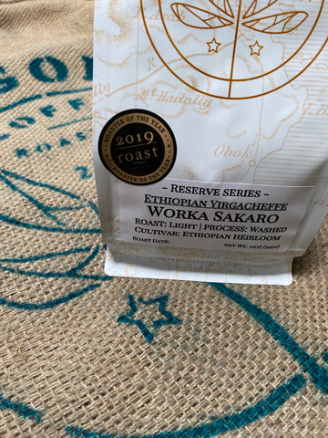 Ethiopian Yirgacheffe WASHED Worka Sakaro - 12oz WHOLE BEAN