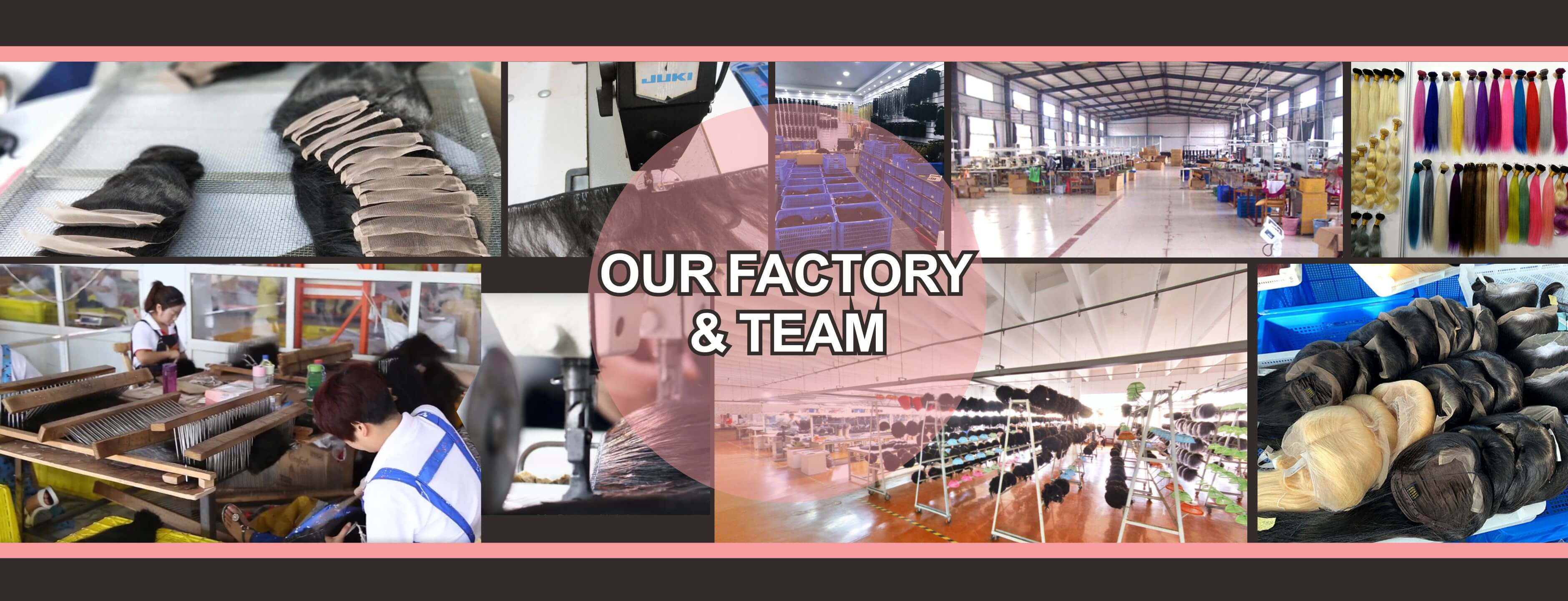 Fashion Hair Weave Factory and Team
