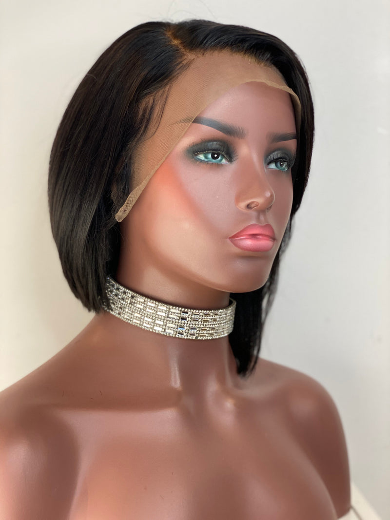 Asymmetrical Frontal Bob