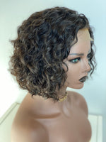 Short Curly Lace Top Bob