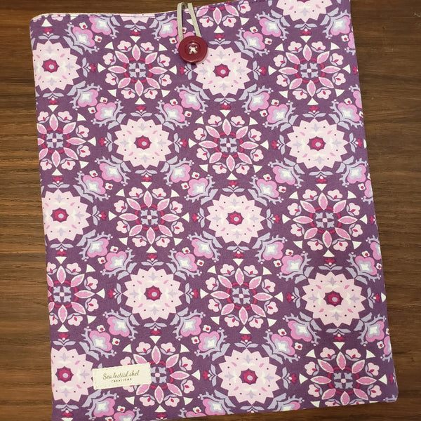 Retro Floral Purple Book Sleeve
