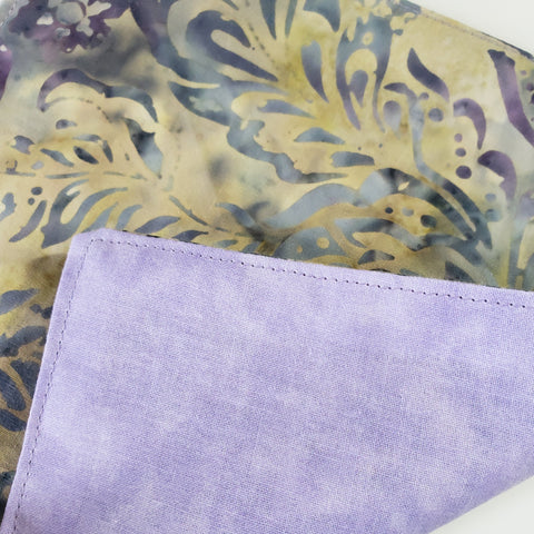 Batik Purple Floral Cloth