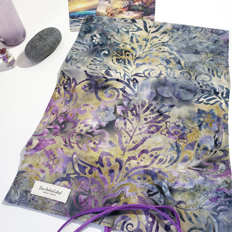 Batik Purple Tarot Wrap