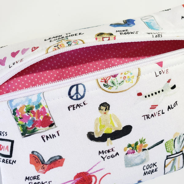 Life Goals Zipper Pouch