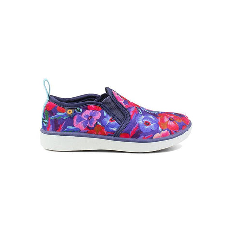 Bogs Kids' Kicker Slip On Pansies Slip Ons
