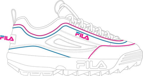 Fila Kids Disruptor II Contrast Piping Shoes