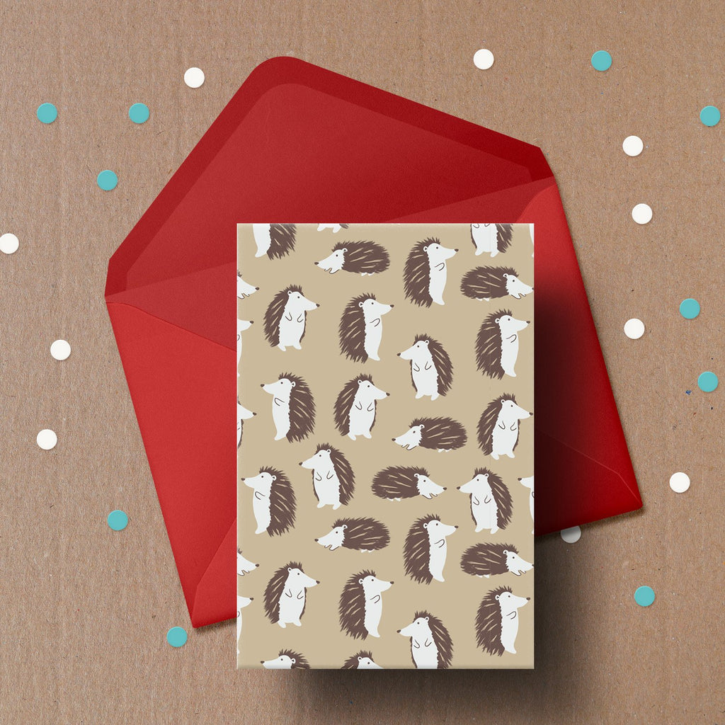 Hopeful Hedgehog Greetings Card