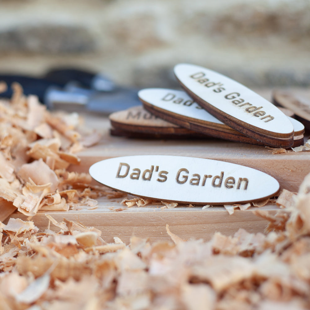 Dad's Garden Wooden Name Plaque