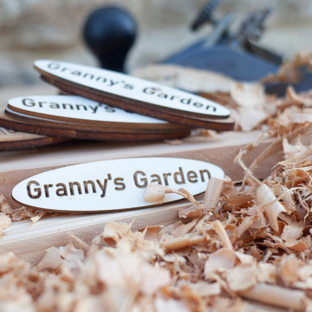 Granny's Garden Wooden Name Plaque