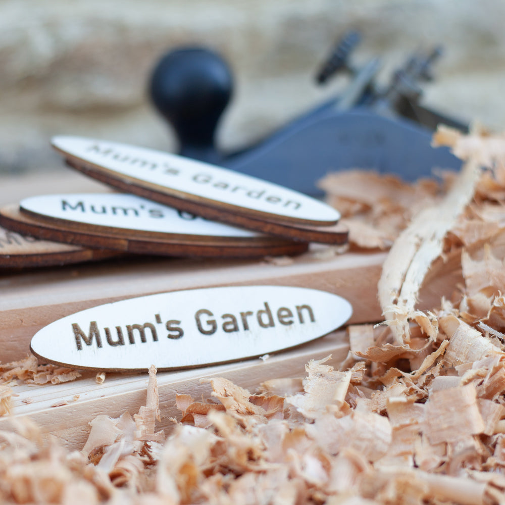 Mum's Garden Wooden Name Plaque