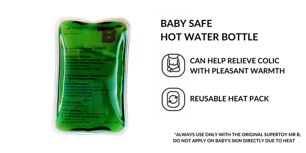 Baby safe hot water bottle for colic