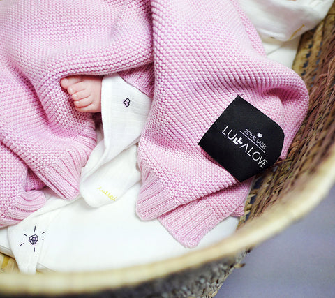 Classic knit baby blanket