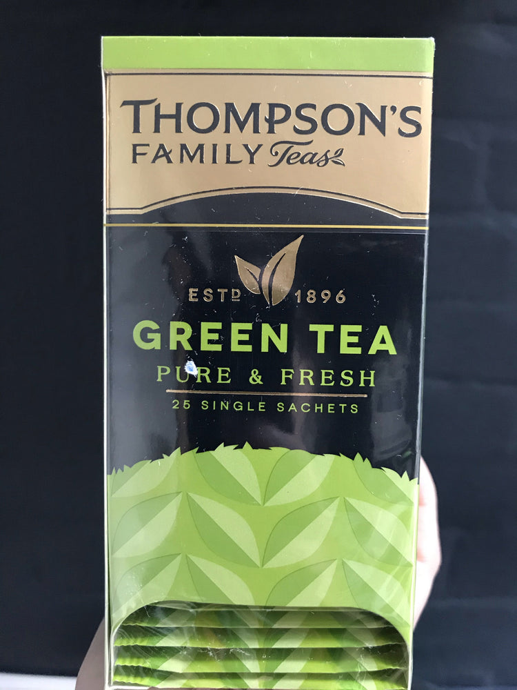 THOMPSONS FAMILY TEAS GREEN TEA SINGLE SACHETs