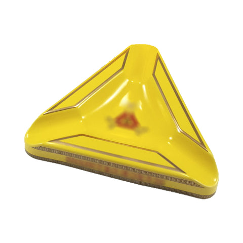 montecristo triangle 3 cigar porcelain ashtray