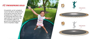 BERG Ultim Favorit Regular Trampoline 280[9ft] + Safety Net Comfort